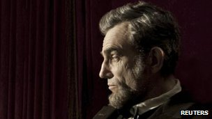 Daniel Day-Lewis portrays President Abraham Lincoln