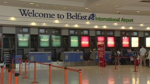 Interior of Belfast International Airport