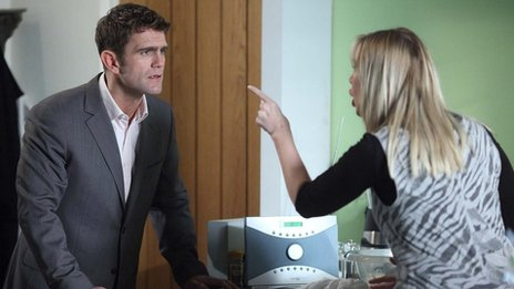 Scott Maslen and Samantha Womack