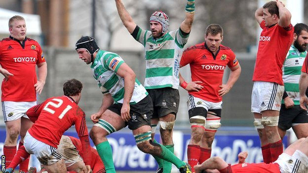 Treviso celebrated a big win over Munster