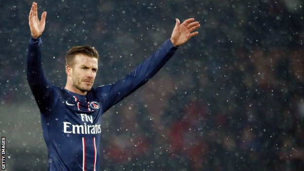 Paris St-Germain's David Beckham