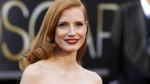 Jessica Chastain - best actress nominee for her role in Zero Dark Thirty