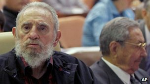 Fidel Castro and Raul Castro at the opening session of the Cuban National Assembly. Photo: 24 February 2013