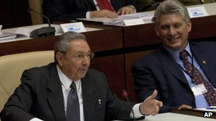 Raul Castro and Miguel Diaz-Canel Bermudez. Photo: 24 February 2013