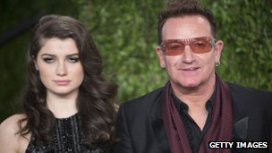 Bono and his daughter