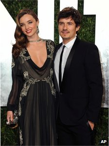 Orlando Bloom and his wife