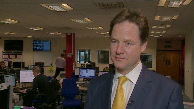 Lib Dem leader Nick Clegg