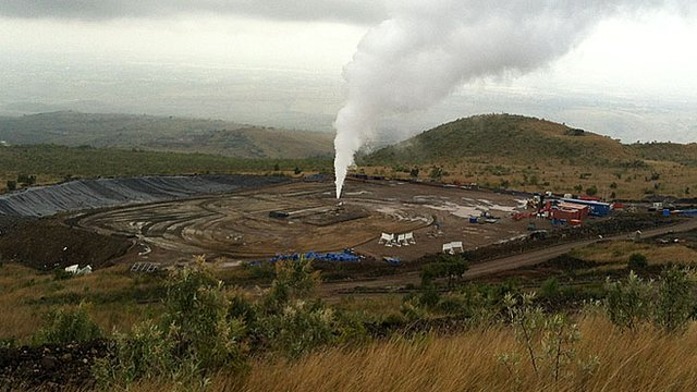 Geothermal well in Kenya