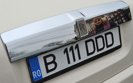 Rolls Royce with Romanian numberplate