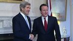 Kerry meeting Cameron in London