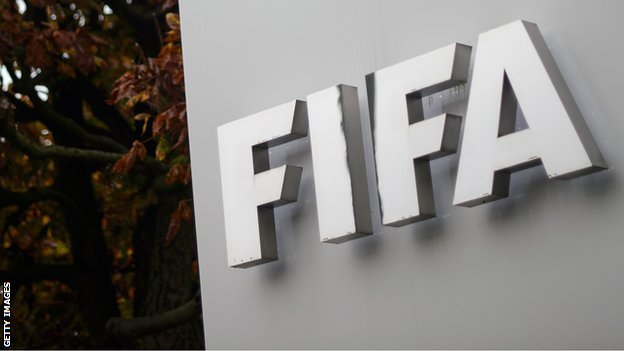 Fifa sign outside organisation's headquarters in Zurich, Switzerland