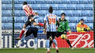 Aaron Martin nets the winner in Coventry's FA Cup third round tie against Southampton, Jan 2012