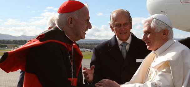 Pope Benedict meets Cardinal Keith O'Brien