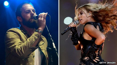 Caleb Followill from Kings of Leon and Beyonce