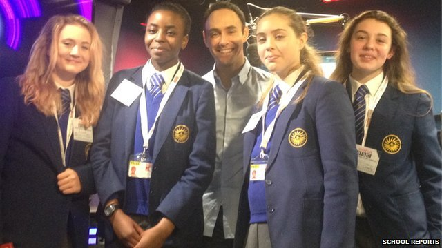School Reporters with Aled Haydn Jones