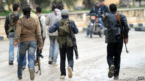 Syrian rebel fighters (30 January 2013)