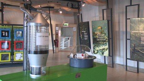 Interior of the Ecos centre