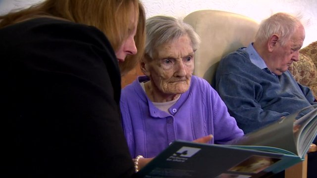 Dementia care home patient and daughter