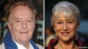 Robert Hardy and Dame Helen Mirren