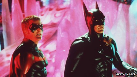Chris O'Donnell and George Clooney as Batman and Robin