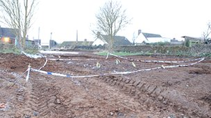 The building site where the bones were found