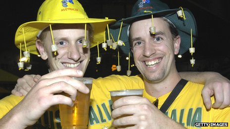 Australians drinking