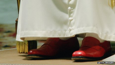 Papal red slippers