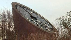 Solar panels on Ecos building