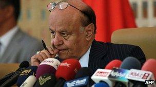 Yemen President Abdrabbuh Mansour Hadi (file image)