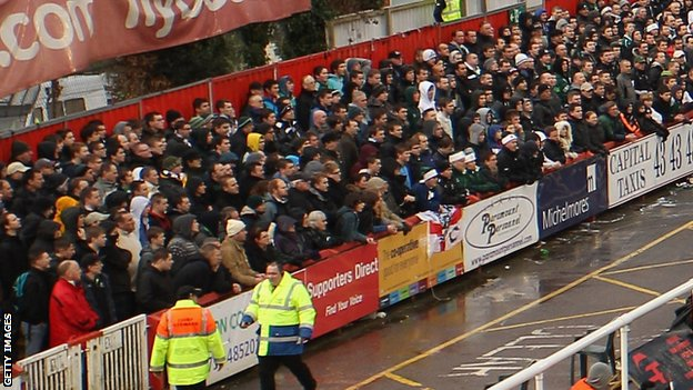 Plymouth Argyle supporters