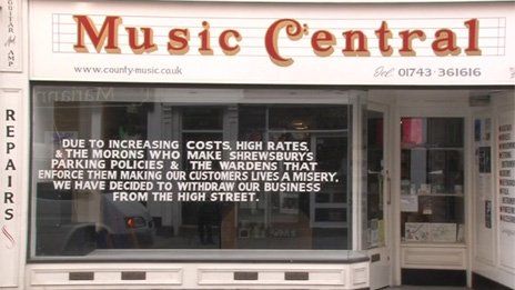 County Music Supplies shop in Shrewsbury