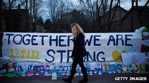 Sandy Hook school shooting tribute