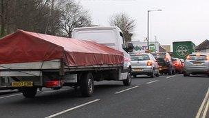 Traffic jam in Bristol