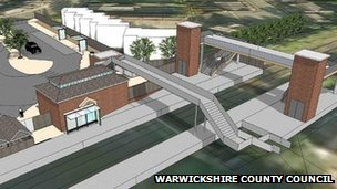 Artist's impression of Kenilworth railway station