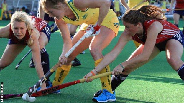 England v Australia women's hockey