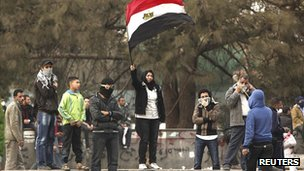 Anti-government protesters in Tahrir Square, Cairo (file photo)