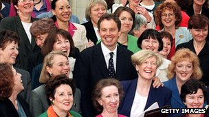 Tony Balir and Female MPs elected in 1997