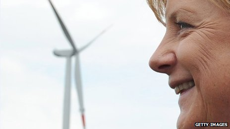 Wind farm, Angela Merkel