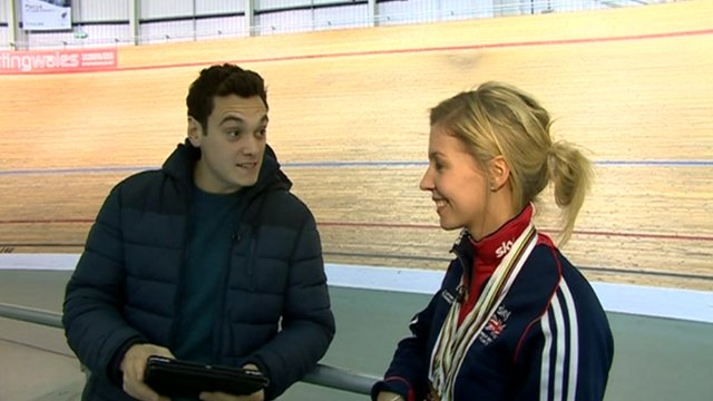 Cyclist Becky James speaks to Joe