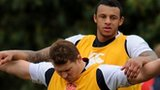 Dylan Hartley and Courtney Lawes