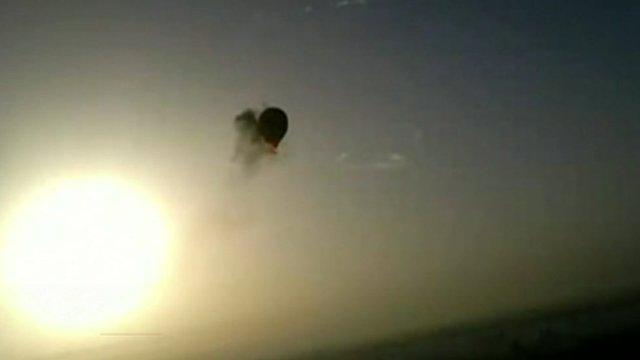 Balloon on fire
