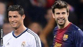 Ronaldo and Gerard Pique