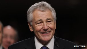 File photo: US Defence Secretary Chuck Hagel