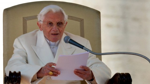 Pope Benedict XVI makes his final address