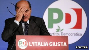 Italian Democratic Party leader Pier Luigi Bersani