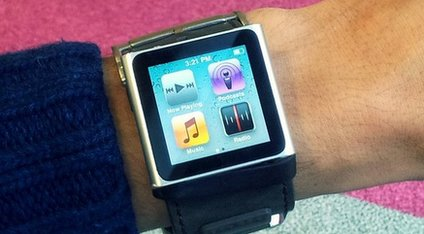 A watch with a touchscreen display