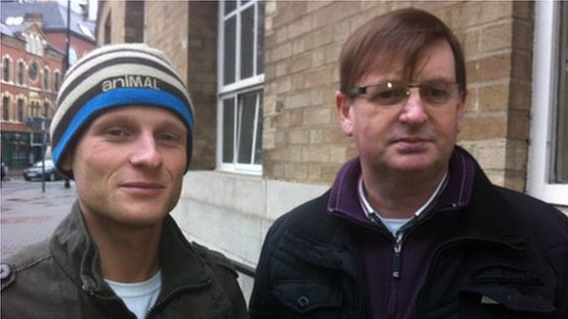Jamie Bryson and Willie Frazer