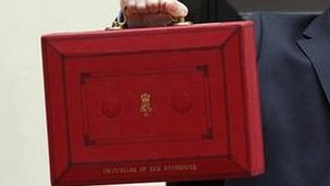 The ministerial box George Osborne used to carry his Budget speech