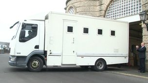 Prison van leaves HMP Shrewsbury for last time