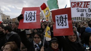 Chinese Catholics in Saint Peter&#039;s Square